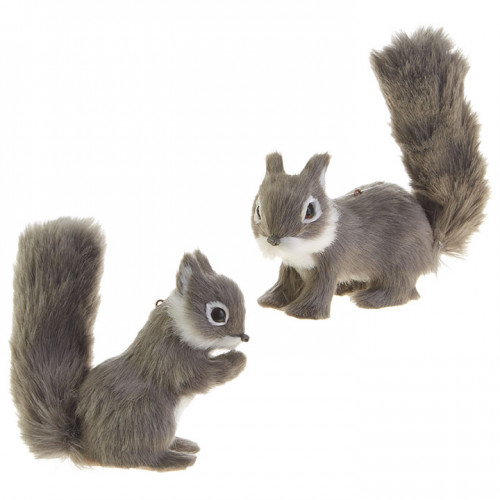 "RAZ Imports 4"" Squirrel Ornament (Set of Two)"