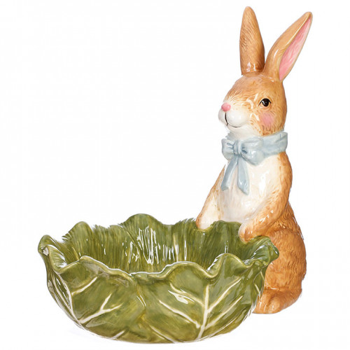 RAZ Imports Rabbit With Cabbage Bowl