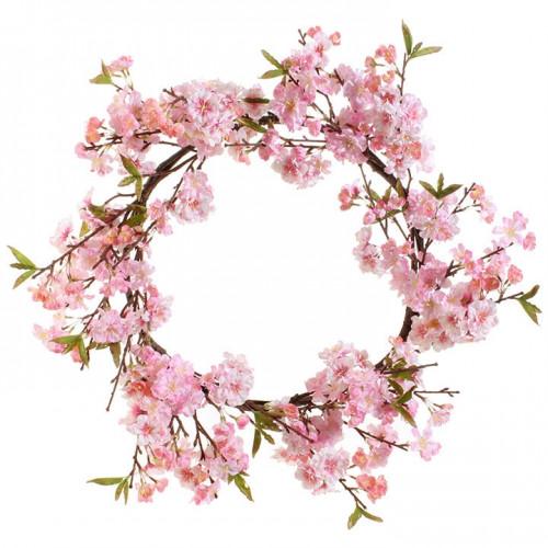 "RAZ Imports 26"" Pink Cherry Blossom Wreath"